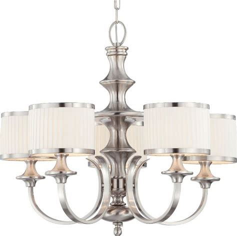 brushed nickel drum chandelier candice brushed nickel drum shade chandelier 28 quot wx24 quot h