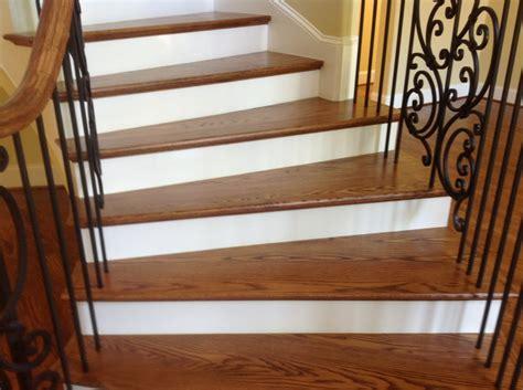refinishing hardwood stairs monk 39 install prefinished wood flooring stairs gurus floor