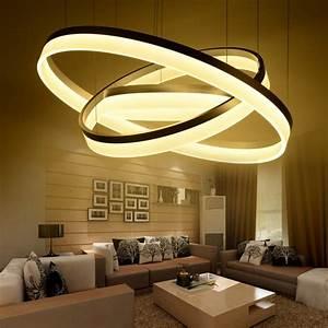 Pas cher Moderne LED salon salle à manger lampes suspendues suspension luminaire lustre
