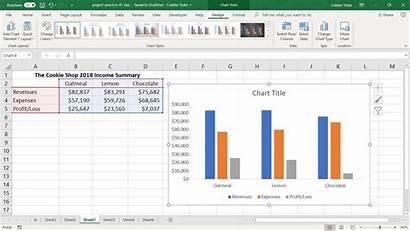 Excel Chart Column Tools Tabs Charts Ribbon