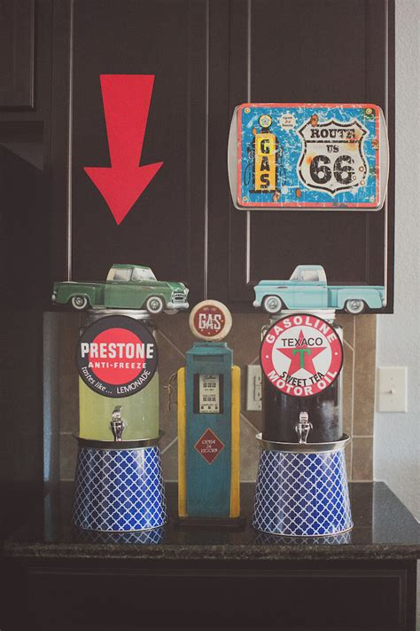 karas party ideas vintage chevy auto garage themed
