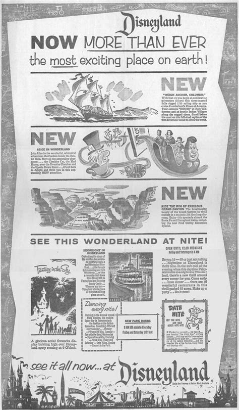 disneyland ads late early vintage ads