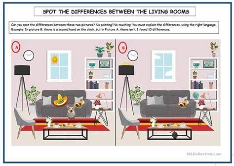 spot  differences  images esl worksheets spots
