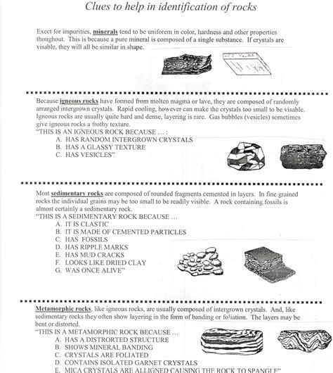 worksheets classifying rocks worksheet opossumsoft