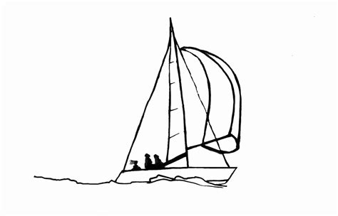 Boat Drawing Lines by Sailboat Line Drawings Clipart Best