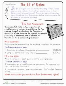 Learn the First Amendment | Worksheet | Education.com
