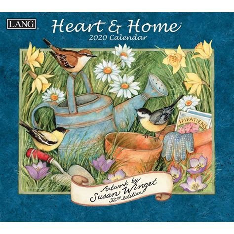 heart home wall calendar