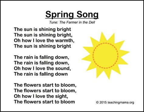 songs for preschoolers 915   Spring Song