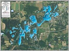 Waupaca Chain O' Lakes Enhanced Wall Map