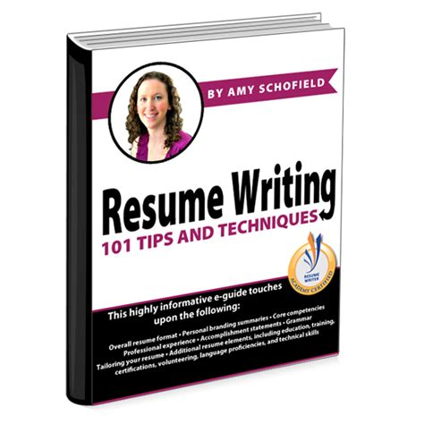 resume writing 101 tips and techniques schofield