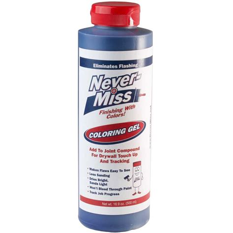 never miss drywall mud tinting additive blue 16 9oz