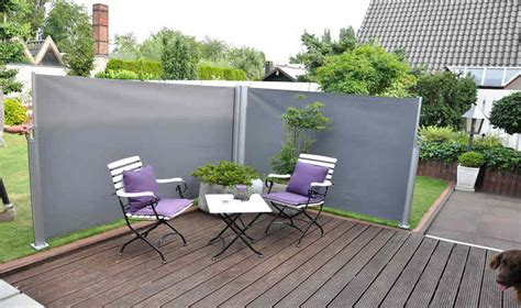 Brise vue pour jardin tlscopique en aluminium et polyester gris