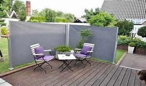 Paravent De Jardin : brise vue pour jardin tlscopique en aluminium et polyester ~ Melissatoandfro.com Idées de Décoration