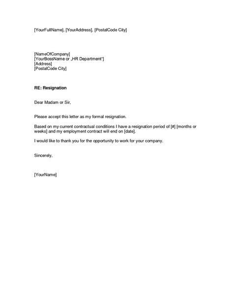 Free Download Resignation LetterWriting A Letter Of Resignation Emai… | Resignation letter
