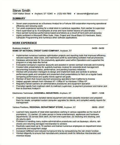 Business Analyst Resumes by Create Your Astonishing Business Analyst Resume And Gain
