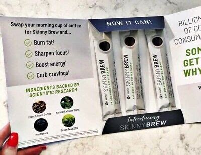 Skinny brew is a new formulation created to help you boost your energy, burn fat, and get better mental focus. It Works Skinny Brew Fat-burning Coffee 3 Single Packets Free Shipping 🚚   eBay