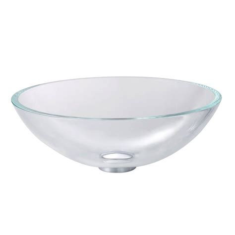 kraus crystal clear glass vessel sink the home depot canada