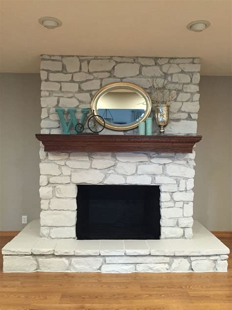 Fireplace Paint - painted fireplace so happy with the results for