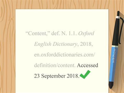 3 Ways To Cite A Dictionary Meaning In Mla