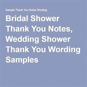 93 best thank you note examples images on pinterest your With thank you wedding shower wording