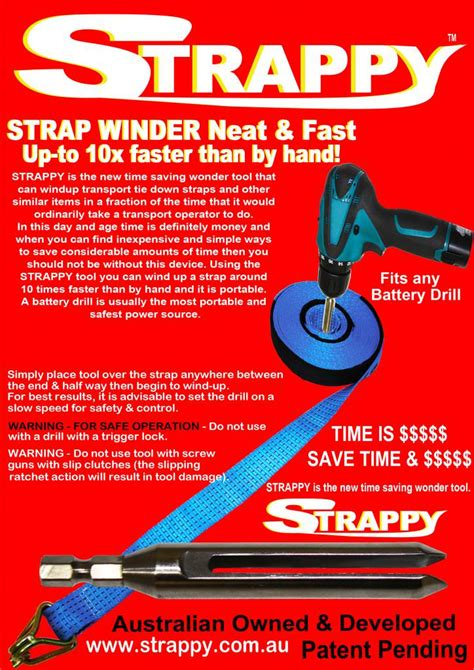 strappy tie  strap winder tool hand held portable ebay