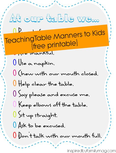 table manners for kids teaching boys table manners