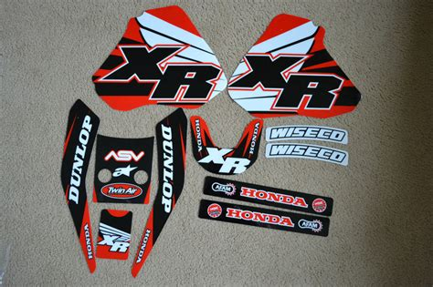 Team Honda Graphics Xr250 Xr400 96 97 98 99 2000 2001 2002