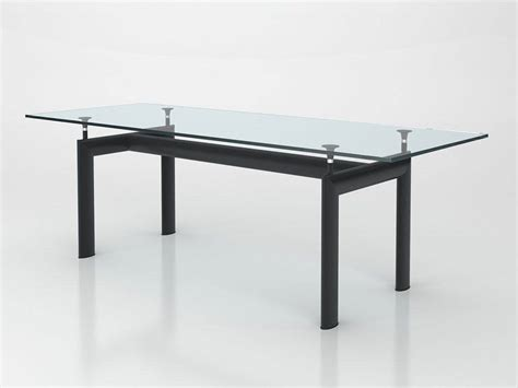 Le Aus Glas by Table Le Corbusier In Metal And Glass