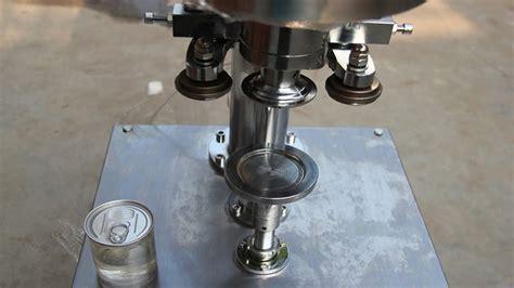 semi auto electric sealing machine  aluminum metal  semi automatique peut sceller la
