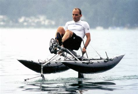Man Powered Hydrofoil Boat by Why Paddles Instead Of Propellers Human Powered Page