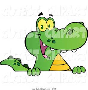 Cute Alligator Clip Art