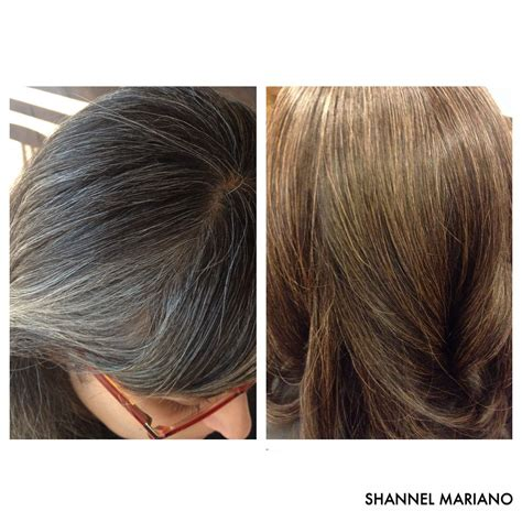 To Brown Turned Grey by Gray Blending Turned Gray Hair Into Highlights Hair