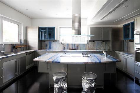 Corner Kitchen Cabinets Ideas - embellish with kitchen worktop blue marble interior design ideas ofdesign