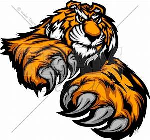 Tiger Mascot Clipart Image. Easy to Edit Vector Format.