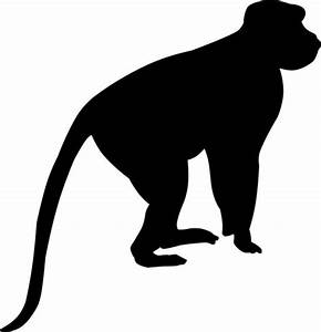 Little Monkey Silhouette Vinyl Wall Decal WilsonGraphics