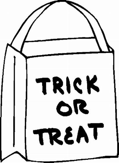 Trick Treat Bag Halloween Clipart Coloring Pages