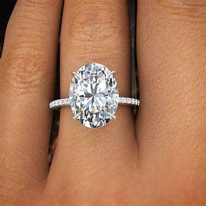 200 ct natural oval cut pave diamond engagement ring gia for Oval cut wedding rings