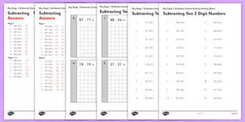 subtracting 2 digit numbers ks1 arithmetic worksheet