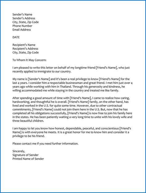 good moral character letter  immigration samples