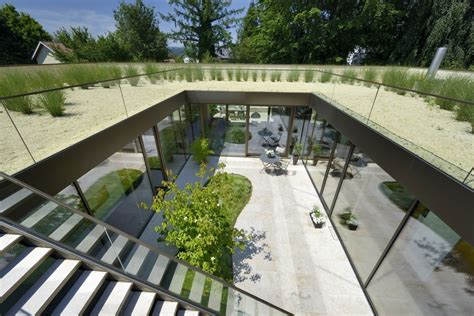 1-home Design & Construction : Home Surrounds Open Sky Courtyard Leading To Rooftop Garden
