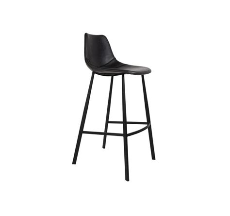 chaise de bar noir chaise ou tabouret de bar assise cuir noir