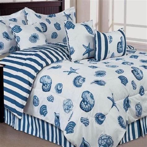 seashells beach themed nautical king comforter set 7
