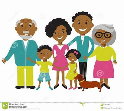 Parents Characters Cartoon Children Together Members Four