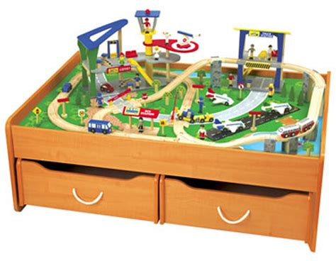 brio train table with drawers kidkraft train table with 2 trundle drawers honey 17840