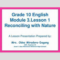 English Grade 10module 3 Lesson 1