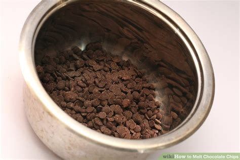 melting chocolate chips 2 simple ways to melt chocolate chips wikihow