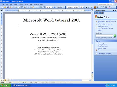 Microsoft Word 2003 Tutorial  Introduction To Ms Word 2003