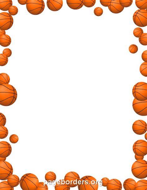 basketballs border basket pelota basquet fiesta de