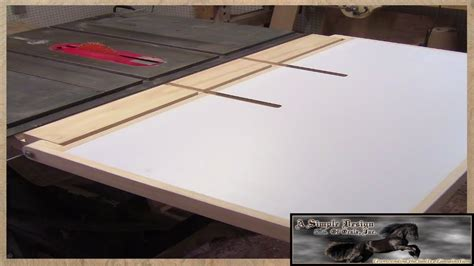 make a table saw table make a table saw out feed table part 3 youtube