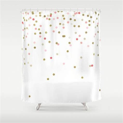 pink and gold shower curtain pink gold confetti shower curtain products showers